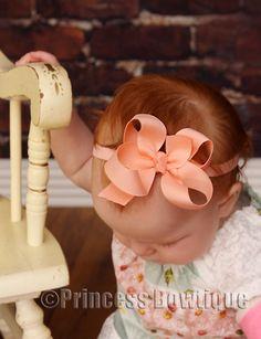 Dainty Peach Baby Infant  Headband