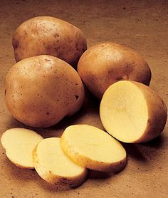 Potato, Yukon Gold Create a garden gold rush with these flavorful, yellow-. more info Product Details Sun: Full Sun Sowing Method: Direct Sow Days to Maturity: 65 days Height: inches Searing Meat, Stale Bread, Yukon Gold Potatoes, Cooked Carrots, Clam Chowder, Natural Sugar, Edible Garden, How Sweet Eats, Steak Recipes
