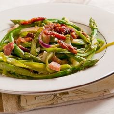 Asparagus with bacon and havarti