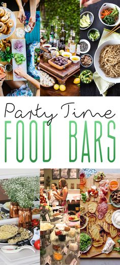 I LOVE all of these ideas for Party Time Food Bars! It doesn't matter if you are celebrating on New Years Eve or if you are having a Family Brunch…there is something here for every occasion and for everyone! Party Food Bars, Diy Party Food, Snacks Für Party, Bbq Party, Appetizers For Party, Ideas Party, Teen Party Food, Cheap Party Food, Crowd Appetizers