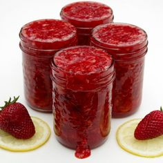 Just 5 ingredients makes amazing strawberry freezer jam- summer in a jar. Freezer jam is much easier than traditional canning methods!