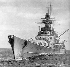 Kriegsmarine battleship KMS Gneisenau during operation berlin 04