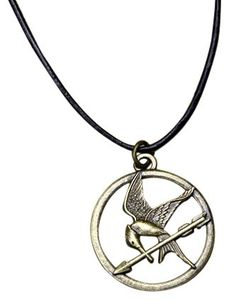 The Hunger Games Movie Mockingjay Pendant on Leather Cord NECA http://www.amazon.com/dp/B0074BVCWS/ref=cm_sw_r_pi_dp_nzTjub1VHW4VT