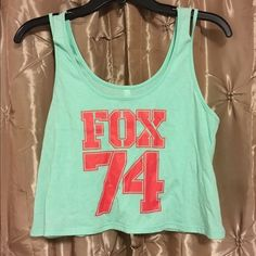 Fox Crop Tank Top Mint cropped Fox tank. Never worn only tried on but no tags. Size small and fits true to size just didn't have anything to go with it. Offers are welcome! Fox Tops Crop Tops