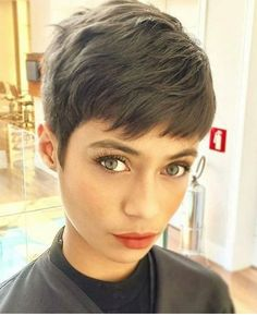 Today we have the most stylish 86 Cute Short Pixie Haircuts. We claim that you have never seen such elegant and eye-catching short hairstyles before. Pixie haircut, of course, offers a lot of options for the hair of the ladies'… Continue Reading → Long Pixie Hairstyles, Short Pixie Haircuts, Girl Haircuts, Undercut Hairstyles, Straight Hairstyles, 2018 Haircuts, Punk Pixie Haircut, Easy Hairstyles, Casual Hairstyles