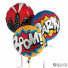 Make your superhero party pop with this Superhero Mylar Balloon Set! Tie these superhero balloons to birthday gifts, chairs or the mailbox to guide guests to . Superman Birthday, Superhero Birthday Party, 4th Birthday Parties, Birthday Balloons, Boy Birthday, Batman Party, Birthday Ideas, Super Hero Birthday, Birthday Gifts