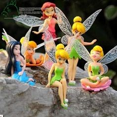 6pcs DIY Miniature Flying Flower Fairy Garden Landscaping Flower Ornaments Succulent Decoration Cartoon Gifts