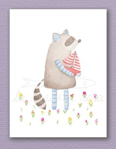 So cute! Perfect illustration for a play room or a nursery