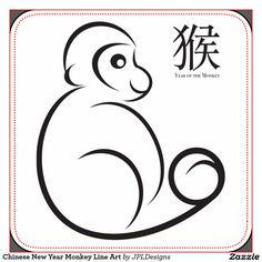 chinese_new_year_monkey_line_art_square_sticker-r69537e4ee9a341e48baedacbfce8dc28_v9byj_1024.jpg (1104×1104)