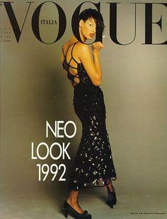 VOGUE ITALIA - SEPTEMBER 1992 COVER MODEL - LINDA EVANGELISTA