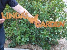 Custom Garden Signs Garden Art Metal Garden by GrizzlyCustomSteel, $50.00