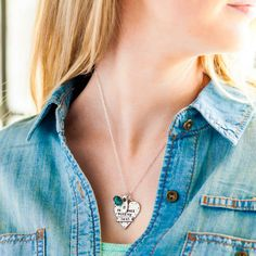 It Is Well With My Soul - Heart Necklace - dayspring.com