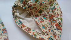 Luva + touca de cozinha feito com tecido 100% algodão <br>Touca forrada com elástico <br>Tecido estampado pode ter variações sem sair do tema original