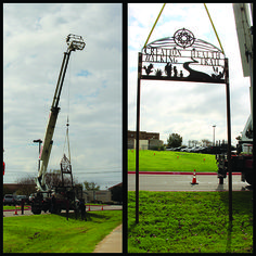 The CTMC CREATION Health Walking Trail sign is currently being installed! Did you know that hundreds of community members use our trail every day for exercise? One lap around the track is exactly one mile.