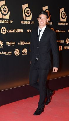 James Rodriguez attends the LFP (Professional Football League) Awards Gala 2014 on October 27, 2014 in Madrid, Spain