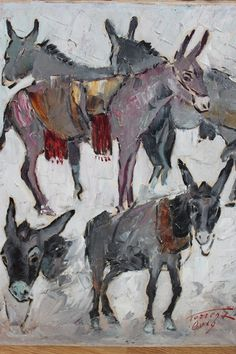 Painted donkeys also tell the story of these wonderful creatures