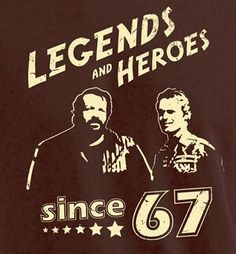 Terence Hill Bud Spencer T-Shirt Herren Wild West Legends schwarz Bud /& Terence