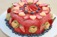 Pastel de fruta fresca
