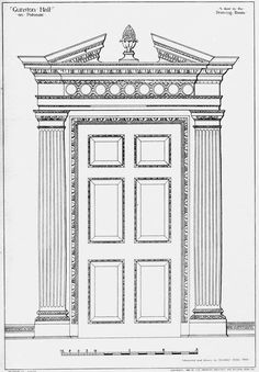 The door of the Drawing Room at Gunston Hall