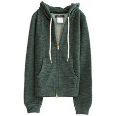 Wool zip hoodie