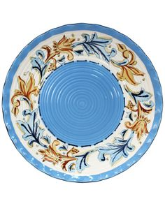 """""""Carousel"""" 14.75in Hand-Painted Round Serving Platter is on Rue. Shop it now."""
