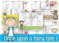 Once upon a fairy tale Bundle I from Ingles360 on TeachersNotebook.com - (250 pages) - Worksheets are an easy tool to practice language skills like writing and new words recognition as well as a good way to reinforce learning areas that still need a little work like math, phonics, writing,reading School Projects, Projects To Try, Fairy Tales Unit, Alice In Wonderland Book, Goldilocks And The Three Bears, Free Giveaways, Teacher Notebook, Children Books, Common Core Standards