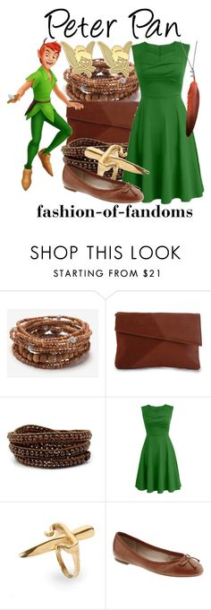 """Peter Pan"" by fofandoms ❤ liked on Polyvore featuring Lisa Freede, Rare London, Chan Luu, LeiVanKash, Banana Republic, Ann Demeulemeester and Disney"