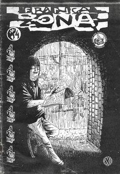 """""""Franca Zona"""" Nº 14. Fanzine de histórias em quadrinhos de autoria do Clube dos Quadrinheiros de Manaus sem data de publicação."""