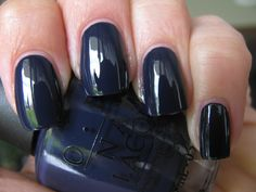Another trendy nail color for Fall 2013, O.P.I: Roadhouse Blues.