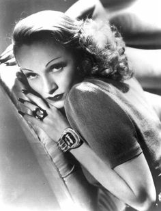 Marlene Dietrich - great bracelet and ring.