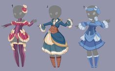 Outfit adopts 9 [OPEN] by MantaTheMisukitty on DeviantArt