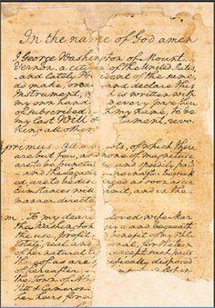 George Washington's Will | George Washington's Mount Vernon