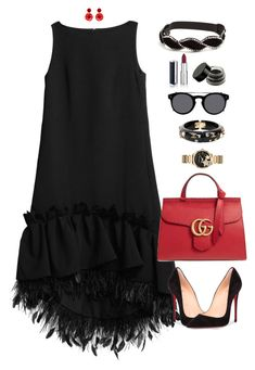 Eva by xoxomuty on Polyvore featuring polyvore, fashion, style, HUISHAN ZHANG, Christian Louboutin, Gucci, Michael Kors, Chanel, Mignonne Gavigan, Valentino, Illamasqua, Givenchy, clothing, ootd and polyvoreOOTD