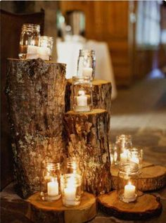 logs for decorations, flowers or pictures
