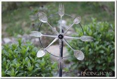 Silverwarewhirlygig1 thumb Outdoor: Vintage Silverware Whirligig