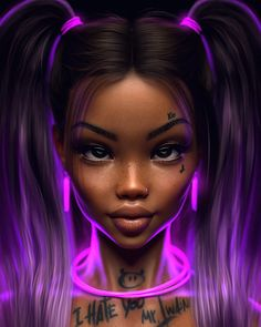 Realistic Illustration by Max Twain Digital Art Girl, Digital Portrait, Portrait Art, Art Black Love, Black Girl Art, Dibujos Tumblr A Color, Black Girl Cartoon, Black Art Pictures, Black Artwork
