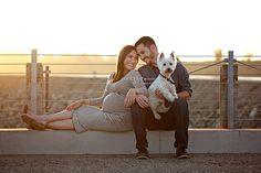 Huntington Beach Maternity Photos with your dog. Best ever!