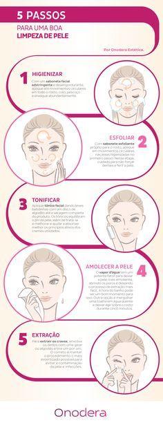 Aprenda 5 passos para fazer uma boa limpeza de pele em casa.