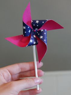 Make your own pinwheels!  Great for breath work!