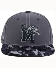 Top of the World Memphis Tigers Luete Snapback Cap - Gray Adjustable