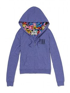 Perfect Zip Hoodie - PINK - Victorias Secret