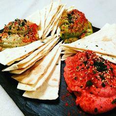 @muyplacerenconserva  Nuevo trío de humus: alcachofa aguacate y remolacha! #mmmmm #humus #cocina #sin #pita #madrid #condeduquegente #condeduque #muy #muyrico #muyplacerenconserva #cenita o #aperitivo !