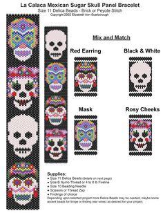 La Calaca Mexican Sugar Skull Panel Bracelet