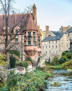 Edinburgh's Dean Village is straight out of a fairy tale. It's one of the city's best kept secrets. #deanvillage #edinburgh #scotland