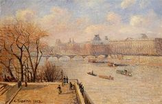 The Raised Terrace of the Pont Neuf - Camille Pissarro