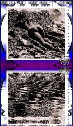 Entre ondas e areia...  [...] Deito-me lânguida ao leito incandescente da quimera onda e areia e sereia eivo indecente os lençóis macios da Morte - única porta aberta que me oferece a Vida. Ler o poema completo em: http://peapaz.ning.com/profiles/blogs/entre-ondas-e-areia