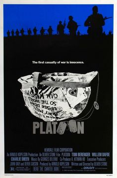 """Platoon"" directed by Oliver Stone/ 3rd grossing film in 1986"
