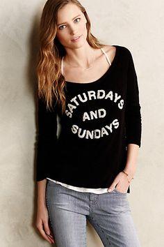 Scooped Weekend Sweatshirt #anthropologie