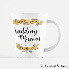 Wedding Planner mug, customized latte mug, thank you gift