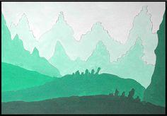 Per continuare il nostro percorso alla scoperta dei colori, con le classi prime, abbiamo realizzato dei paesaggi a tempera in gradazione t...
